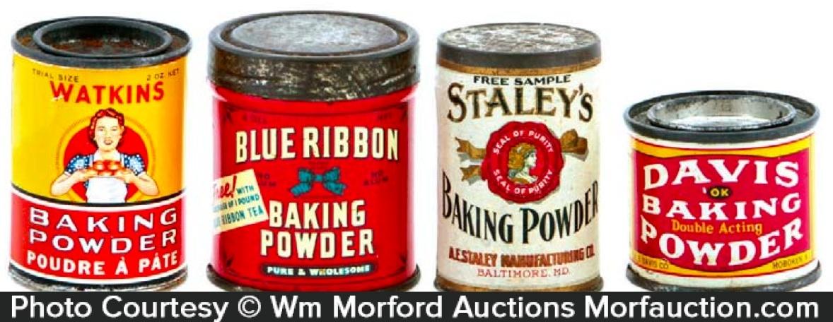 Baking Powder Sample Tins