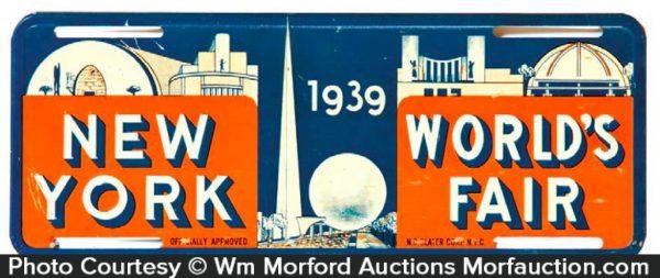 New York World's Fair License Plate