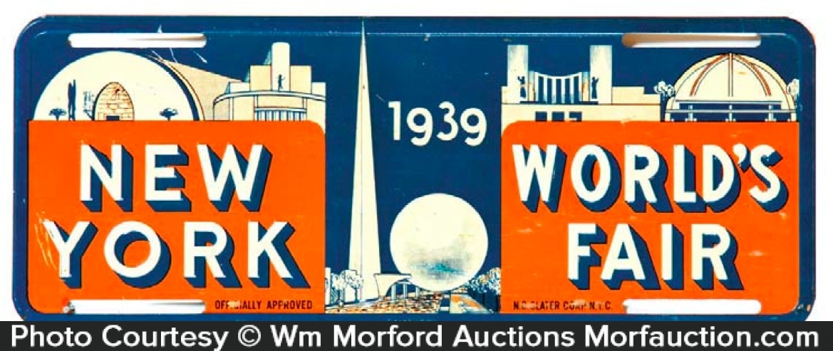 New York World's Fair License Plate