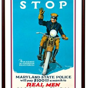 Motorcycle Police Poster