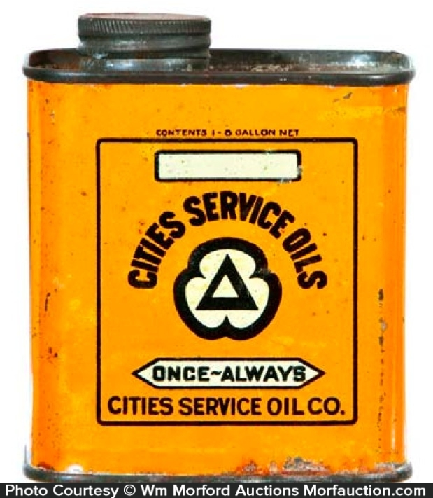 Cities Service Oil Tin