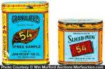 Granulated 54 Tobacco Sample Tins