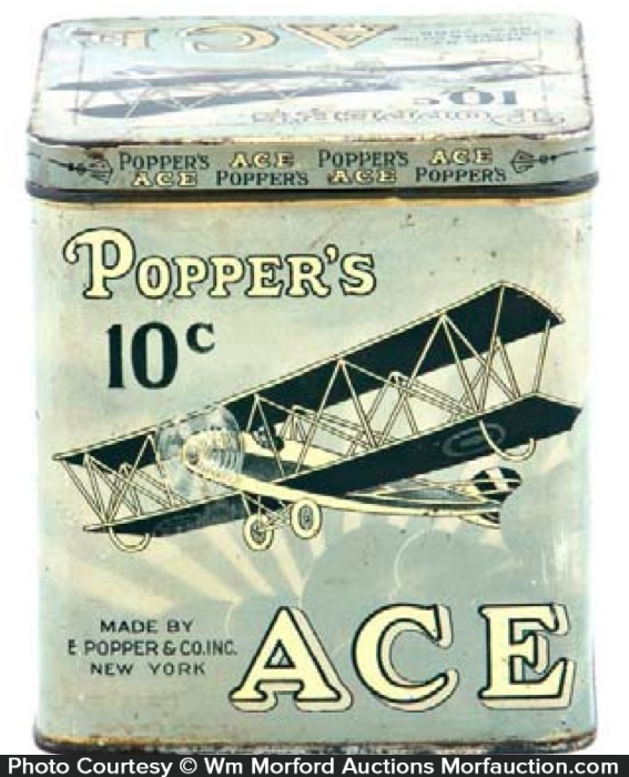 Popper's Ace Cigar Can