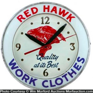 Red Hawk Clothes Clock
