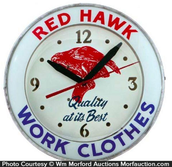 Red Hawk Clothes Clock