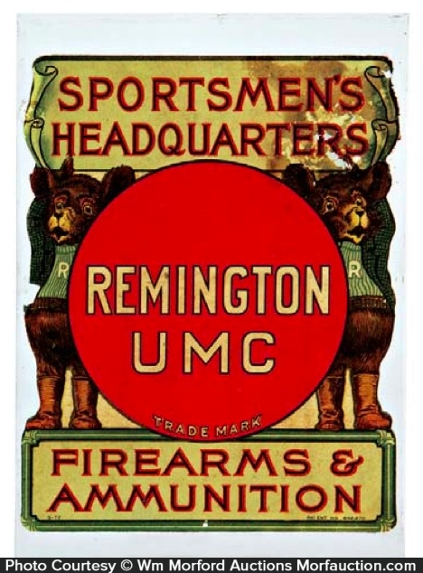 Remington Umc Bears Sign