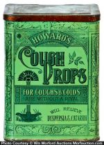 Howard's Cough Drops Tin