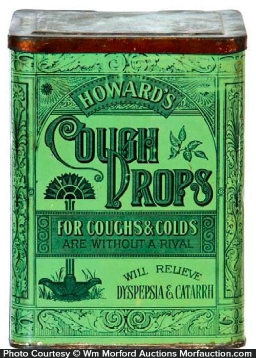 Howard's Cough Drops Tin