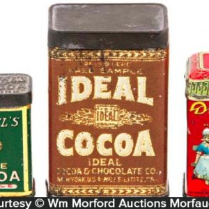 Vintage Cocoa Tin Samples