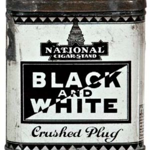 Black and White Tobacco Tin