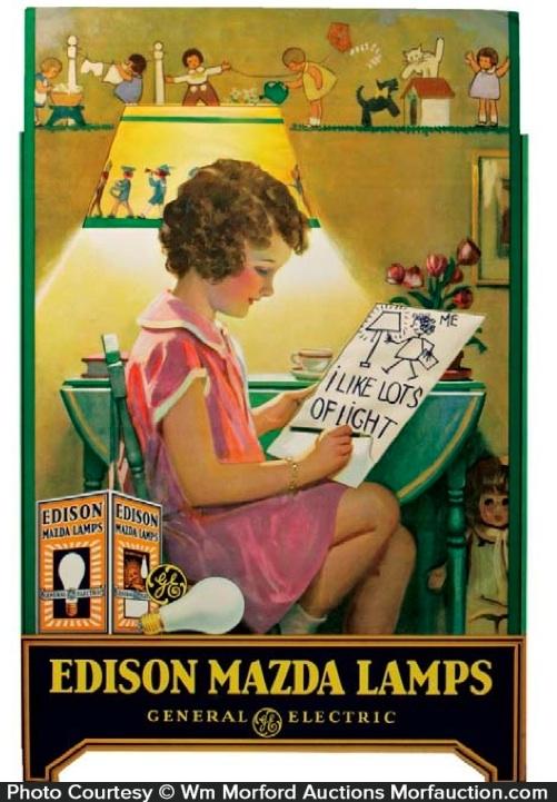 Edison Mazda Lamps Display