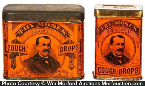 Moses' Cough Drop Tins