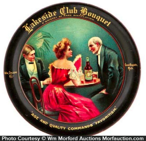 Lakeside Club Whiskey Tip Tray