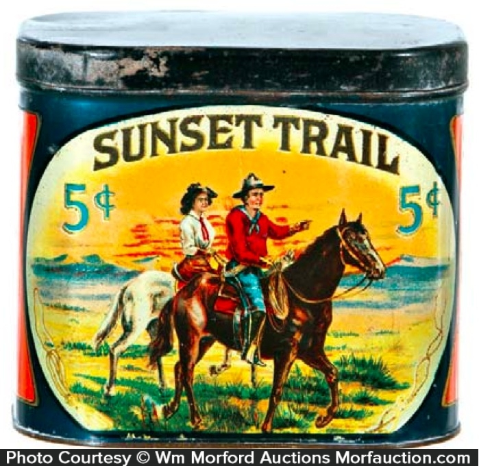 Sunset Trail Cigar Tin