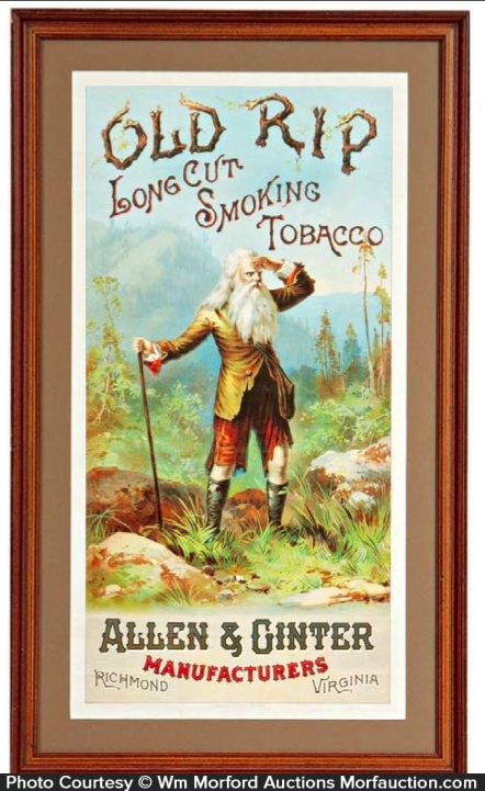 Old Rip Tobacco Sign