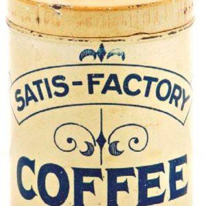 Satis-Factory Coffee Tin