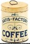 Satis-Factory Coffee Tin