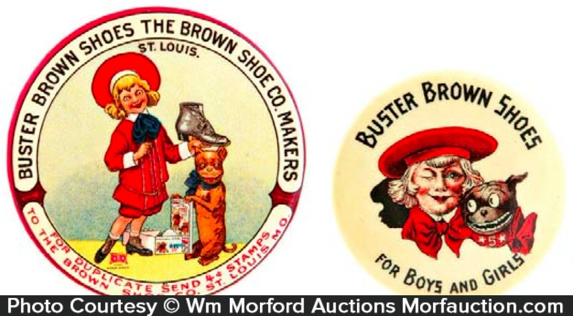Buster Brown Shoes Pocket Mirrors