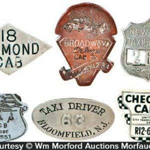 Vintage Taxi Badges