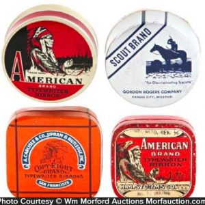 Indian Theme Typewriter Ribbon Tins
