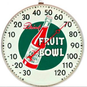 Fruit Bowl Soda Thermometer