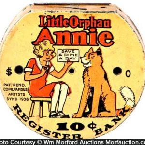 Orphan Annie Dime Bank