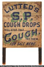 Lutted's S.P. Cough Drops Sign