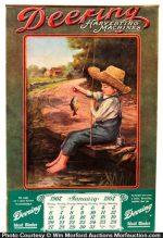 Deering Harvesting Machines Calendar