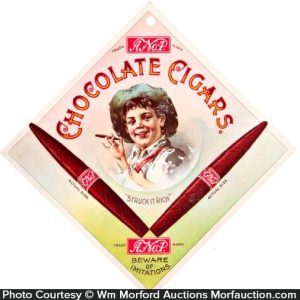 A No. 1 Chocolate Cigars Sign
