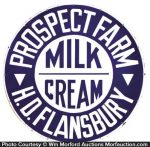 Prospect Farm Dairy Sign