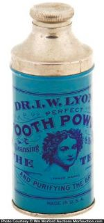 Lyon's Tooth Powder Tin