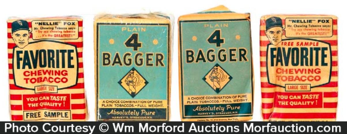 Vintage Baseball Theme Tobacco Packs