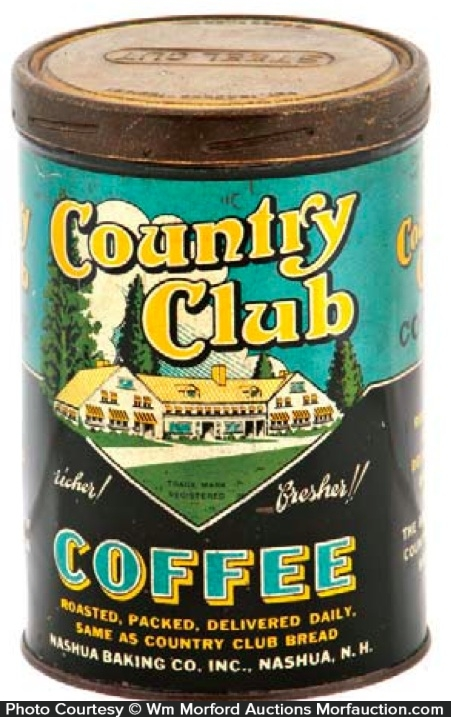 Country Club Coffee Can