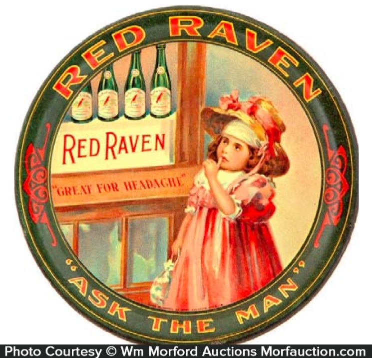 Red Raven Tip Tray