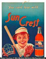 Sun Crest Soda Sign