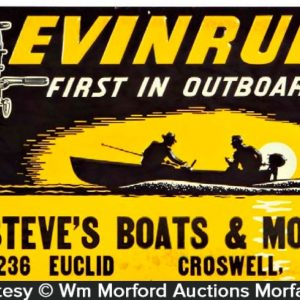 Evinrude Outboards Sign