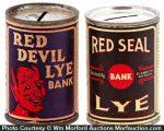Vintage Lye Tin Banks