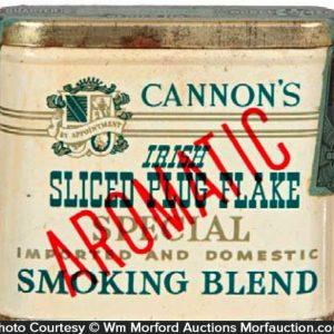 Cannon's Irish Tobacco Tin