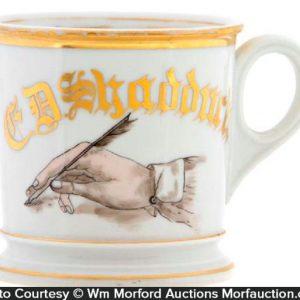 Calligraphy Shaving Mug