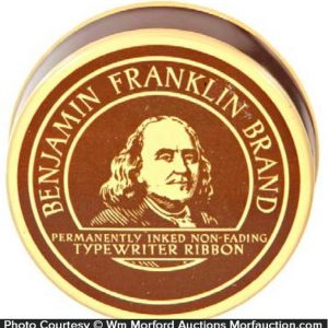 Benjamin Franklin Typewriter Tin