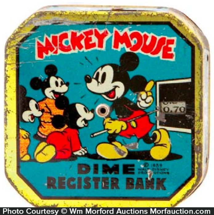 Mickey Mouse Dime Bank