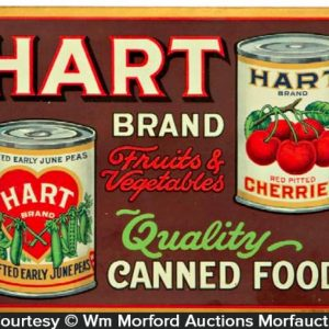 Hart Canned Food Sign
