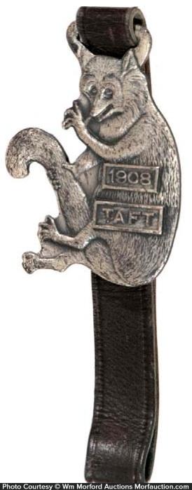 1908 Taft Possum Fob