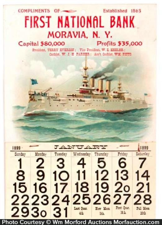 First Bank Battleship Calendar