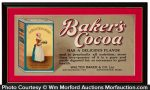Bakers Cocoa Sign