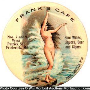 Frank's Cafe Pocket Mirror