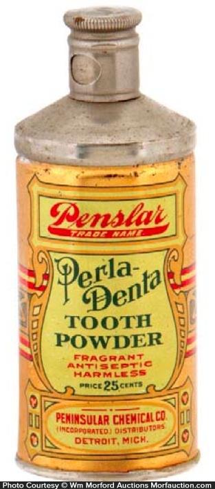 Perla-Denta Tooth Powder Tin