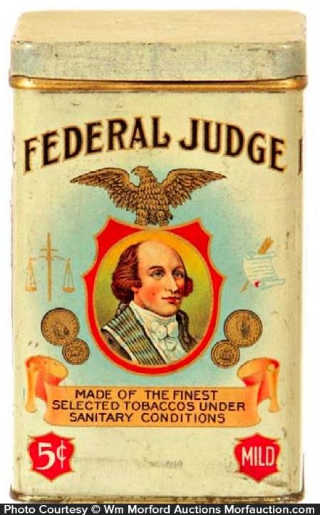 Federal Judge Cigar Can