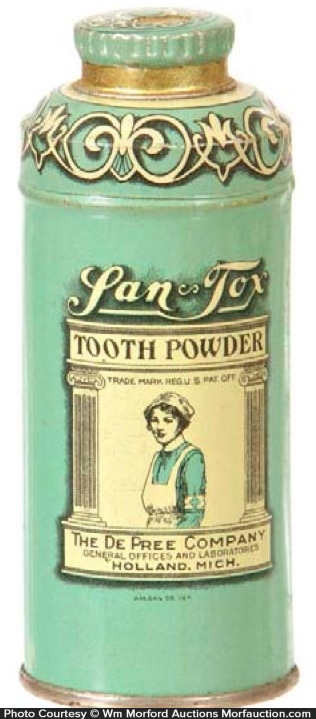 San-Tox Tooth Powder Tin