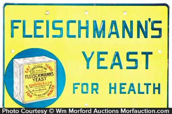 Fleischmann's Yeast Sign